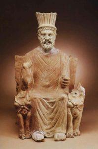 Statuia lui Baal Hammon, zeul principal al Cartaginei