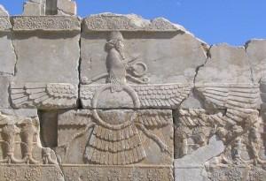Ahura Mazda, divinitate de rang înalt în vechea religie persană, a apărut prima dată în perioada ahemenidă (550-350 î.Hr.)