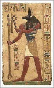 Anubis, zeul egiptean cu cap de şacal