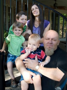 Kirk Martin cu familia