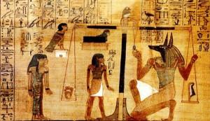 Anubis, zeul egiptean cu cap de șacal sau câine, asociat mumificării și vieții de apoi