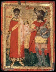 Icoană rusă din sec. 16 a lui Ştefan şi Cristofor