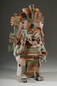 Zeul aztec Xolotl, 1200-1500 d.Hr, cultura maya
