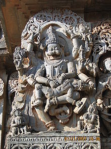 Zeul indian Narasimha, un avatar al lui Vishnu