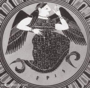 13. Eris, zeița greacă a haosului și discordiei