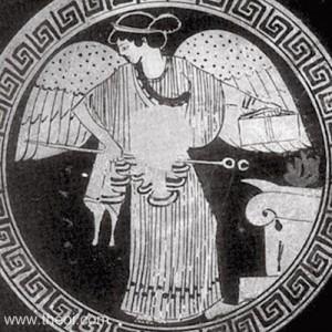 20. Zeița greacă Iris, personificarea curcubeului și mesagera zeilor