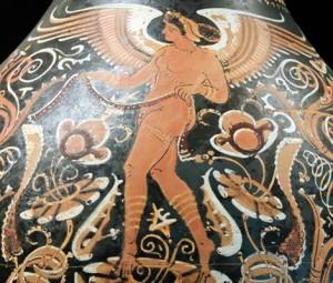 28. Zeul Eros, vas de lut din Spania