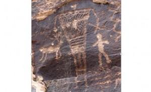 55. Artă rupestră cu uriași, Arizona
