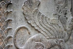 7. Sfinx înaripat – hibrid sumerian