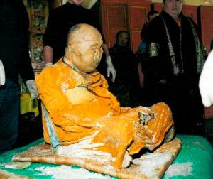 Mumia lui Hambo Lama Itigelov, un călugăr budist care a murit în 1927