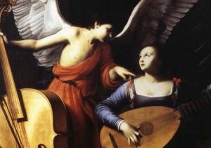 """Cecilia cu iubitul ei, un înger care pretindea a fi de la """"dumnezeu""""."""