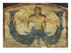 Sirenă, pictură din peșteră antică